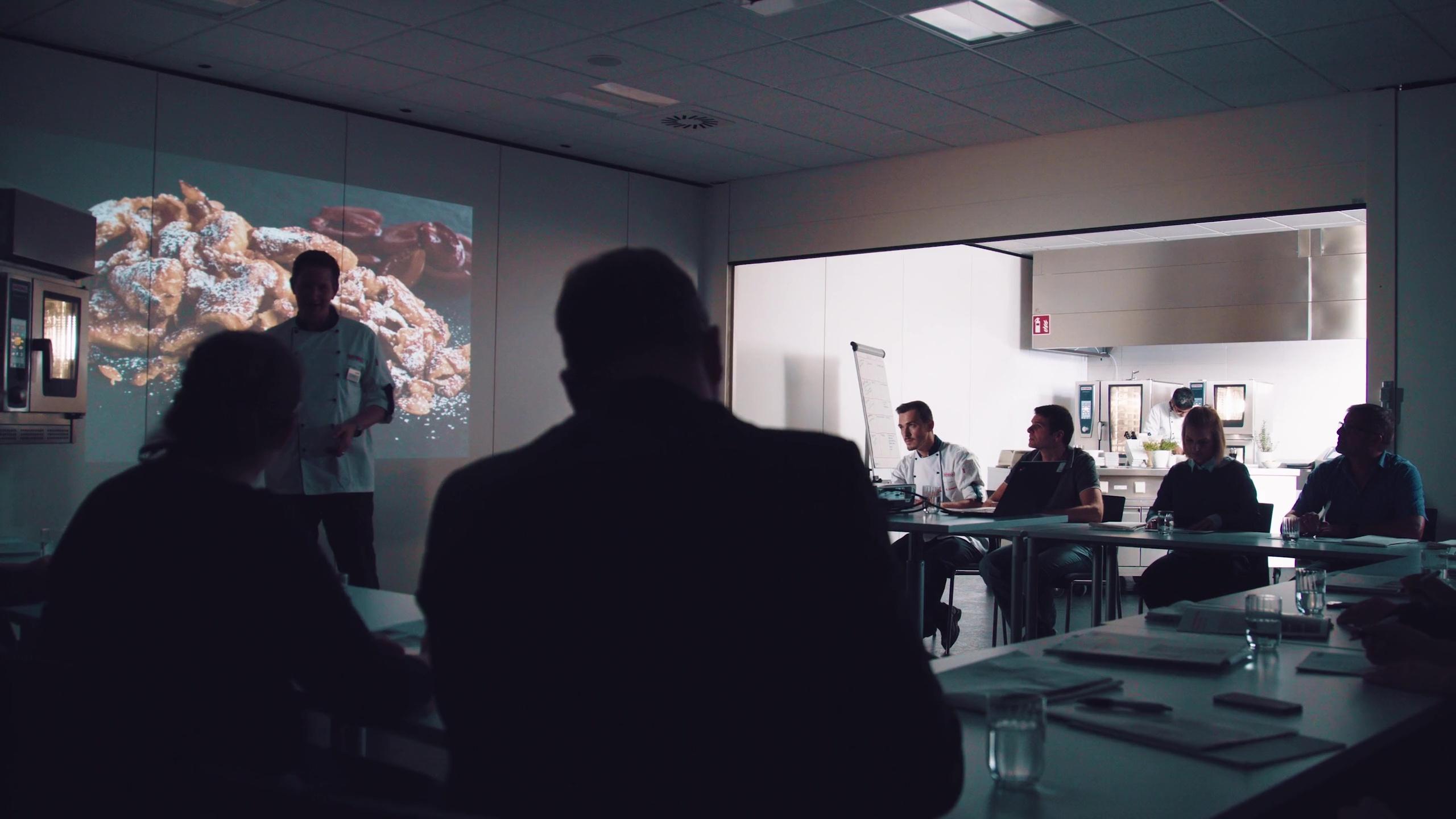 Mitarbeiter während einer Präsentation