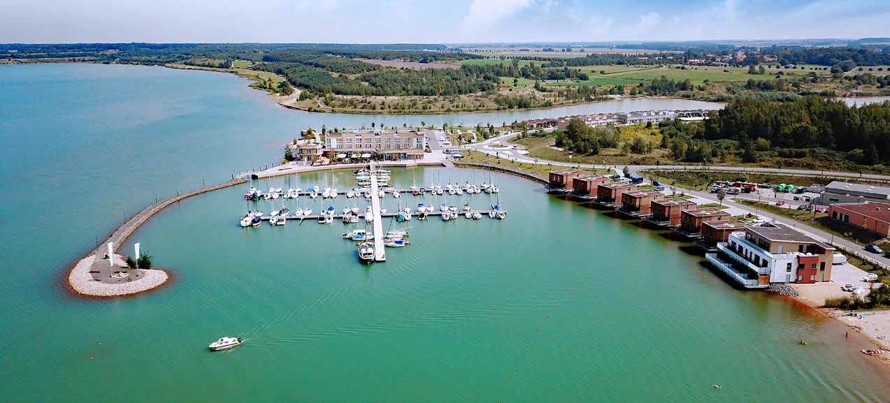Yachthafen aus der Luft